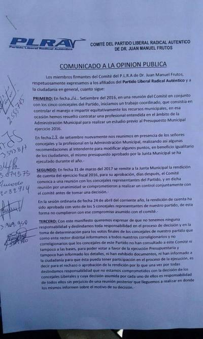 Concejales se habrían confabulado para aprobar rendición de Carlos Medina – Prensa 5