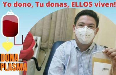 Médico cirujano que dio positivo al covid donó plasma