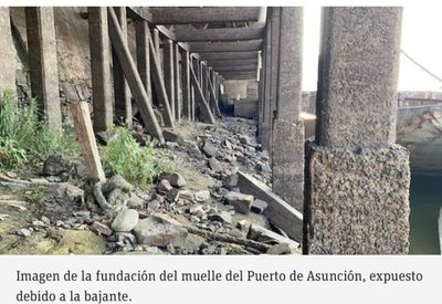 La peor bajante del río Paraguay en 50 años