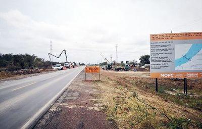 """MOPC autorizó """"por partes"""" el inicio de algunas obras del puente a Chaco'i"""