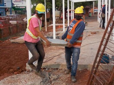 Rápido avance en construcción del pabellón de contingencia en Pedro Juan