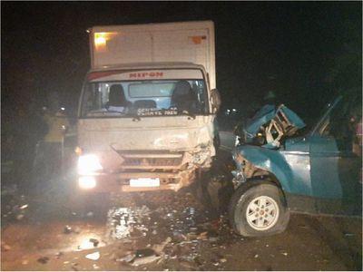 Accidente de tránsito deja un fallecido en Santa Rosa del Aguaray