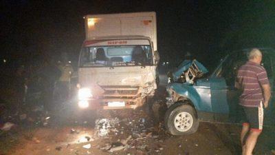 Accidente rutero deja como saldo un fallecido en Santa Rosa del Aguaray