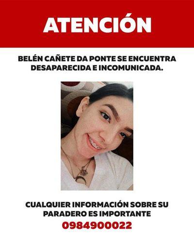 Buscan a joven desaparecida desde anoche