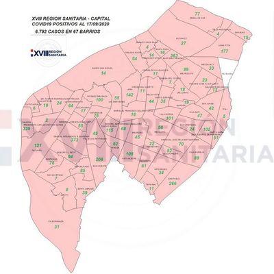 Barrio Obrero, Trinidad y Sajonia, los epicentros capitalinos de contagios de COVID-19