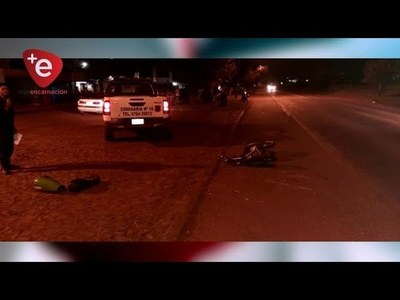 MENOR DE 15 AÑOS PROTAGONIZA ACCIDENTE CON SU MOTO