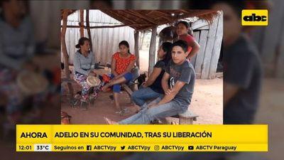 Adelio Mendoza ya se encuentra en su comunidad
