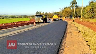 VERTIGINOSO AVANCE DE OBRAS DESDE EL MOPC EN ITAPÚA
