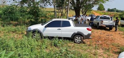 Encuentran vehículo utilizado en el homicidio del comerciante de Salto de Guairá