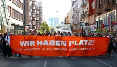 Protestas en Berlín para reclamar a la UE que abra sus puertas a la inmigración