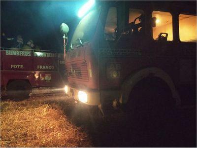 Bomberos controlaron incendio en reserva Moisés Bertoni