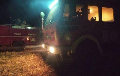 Bomberos lograron controlar incendio registrado en reserva Moisés Bertoni