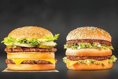 McDonald's y Burger King anuncian cambios de receta de sus hamburguesas