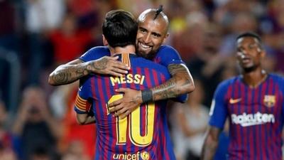 """Messi se despide del """"Rey Arturo"""""""