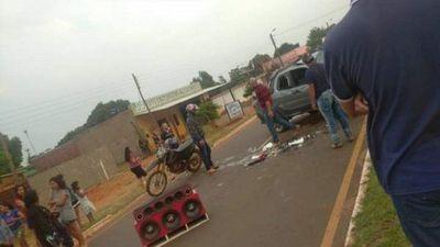 Menor de edad al volante causó un grave accidente