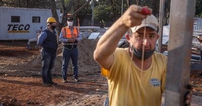 COVID-19: avanzan obras de pabellón de contingencia en Acosta Ñu