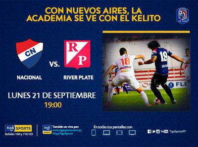 Nacional y River Plate tienen cita en barrio Obrero