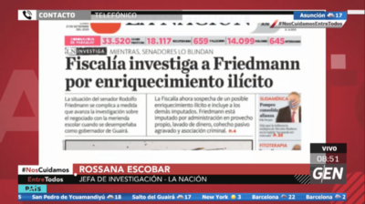 HOY / Rossana Escobar, sobre el caso Rodolfo Friedmann