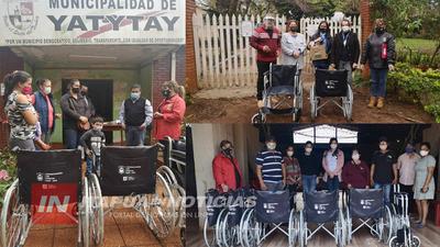 ENTREGA DE SILLAS DE RUEDAS A PERSONAS DISCAPACITADAS DEL DPTO, POR LA GOBERNACIÓN DE ITAPÚA