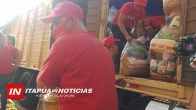 REPARTIERON MÁS DE 3.200 KITS DE VÍVERES A TRABAJADORES DE FRONTERA