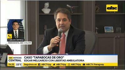 Tapabocas de oro: Edgar Melgarejo, con libertad ambulatoria
