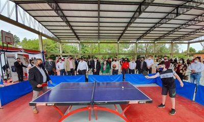 San Pedro: Inauguran polideportivos en Día de la Juventud