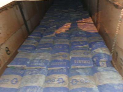 Cae más cemento de contrabando