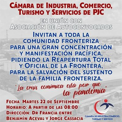 Hoy habrá jornada de protesta en Pedro Juan