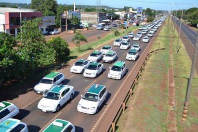 Caravana por la reapertura del Puente de La Amistad