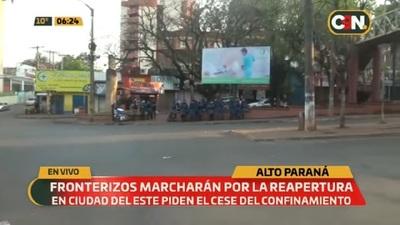 Con manifestaciones, exigen reapertura total de la frontera