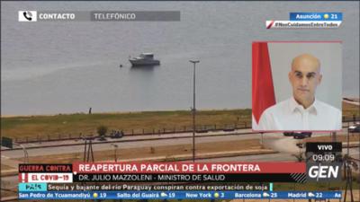 HOY / Julio Mazzoleni, ministro de Salud, sobre protocolo sanitario para reapertura parcial de la frontera