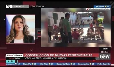 HOY / Cecilia Pérez, ministra de Justicia, sobre construcción de nuevas penitenciarías