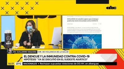 COVID-19: Inmunidad por dengue es una hipótesis pero no está confirmada, según Sequera