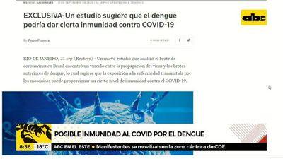 ¿El dengue puede proveer cierta inmunidad contra el coronavirus?