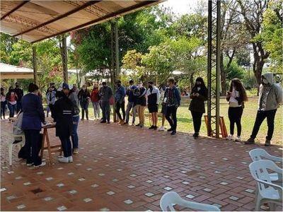 Connacionales dados de alta en albergue de la ciudad de Caaguazú