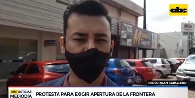 Comerciantes de Pedro Juan exigen apertura de frontera