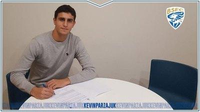 Kevin Parzajuk fue presentado como nuevo refuerzo del Brescia