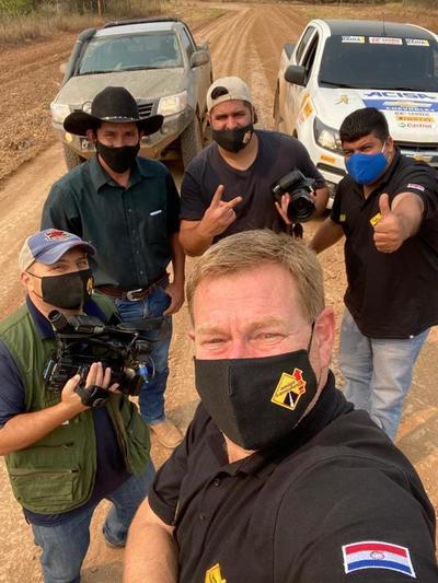 Expedición de Amigo Camionero explora camino de todo tiempo entre Loma Plata-Bahía Negra