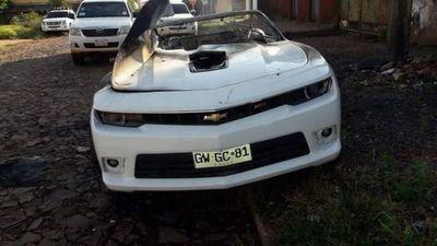 Queman vehículos de alta gama en distintos puntos de Pedro Juan