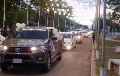 Ciudadanos de Yby Yaú pidieron por la paz en el norte con caravana y misa