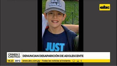 Denuncian desaparición de un pequeño de 12 años