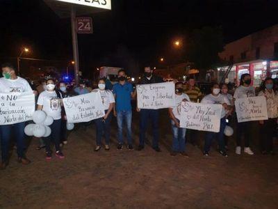 Ciudadanos se movilizan en Yby Yaú para exigir liberación de secuestrados