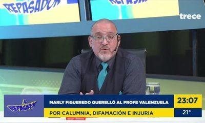 """""""Profe"""" Valenzuela a Marly: """"sus hijos tienen vergüenza de salir a la calle"""" (video)"""