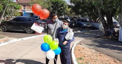 La Nación / Lambaré: niño recibió alta médica tras vencer al COVID-19