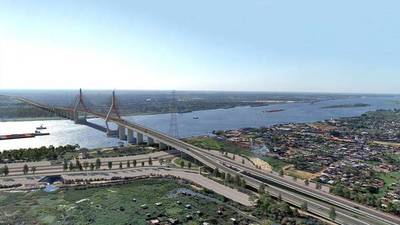 Prosiguen labores de construcción del Puente Héroes del Chaco