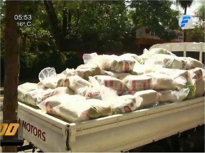 100 toneladas de alimentos para las comunidades que rechazaron al EPP