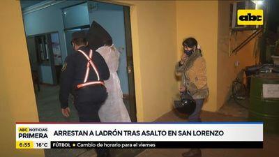 Arrestan a ladrón tras asalto en San Lorenzo