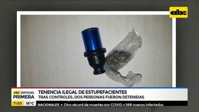 Detenidos por tenencia ilegal de estupefacientes