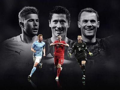 De Bruyne, Lewandoski y Neuer, candidatos a mejor jugador del año