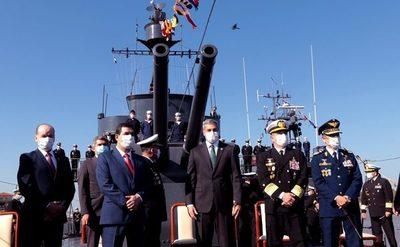 Marito encabezó festejos por Día de la Armada Paraguaya